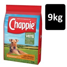 Chappie Dog Complete Dry Dog Food Chicken & Wholegrain Cereal 9kg (3x3kg Pack)