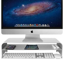 VAYDEER 2 Tiers Monitor Stand Riser Computer Stand up to 27 inches Screens for PC, Laptop, Computer, iMac, MacBook with Storage Organizer for Magic K