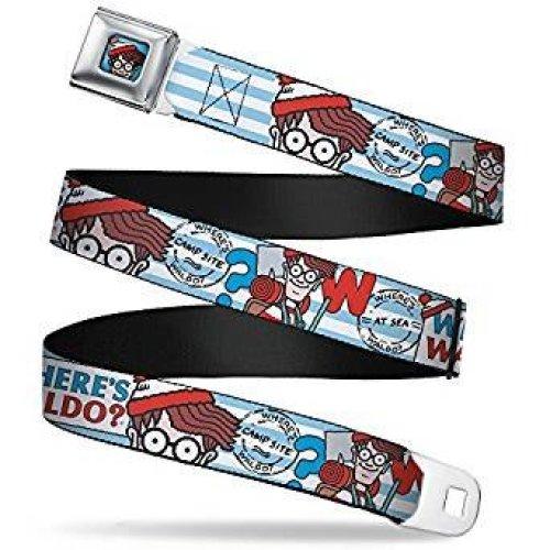 Seatbelt Belt - Where's Waldo - V.1 Adj 24-38' Mesh New waa-wwa005