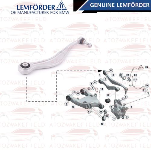 FOR BMW 5 6 7 SERIES REAR AXLE UPPER SUSPENSION WISHBONE TRACK CONTROL ARM OEM