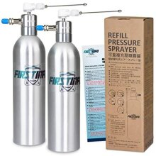 FIRSTINFO Pneumatic/Manual Compressed Refillable Fluid Oil Pressure Storage Sprayer with 2 Way Nozzles for Stream and Mist Spraying, Pack of 2 (Alum