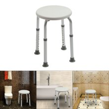 Round Bath and Shower Durable Chair Bathing Aid Height Adjustable Stool Seat