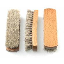 3 Pack Premium Horse Hair Shoe Polishing Brushes