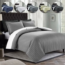 Quilted Duvet Cover Bedding Set with Pillow Case