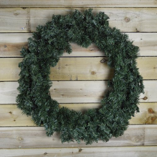 90cm Diameter Plain Green Luxury Imperial Pine Christmas Door Wreath