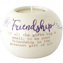 Said with Sentiment Ceramic Tea Light Holder - Friendship
