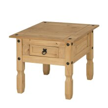 Corona Lamp Table 1 Drawer Coffee End Mexican Solid Pine Furniture
