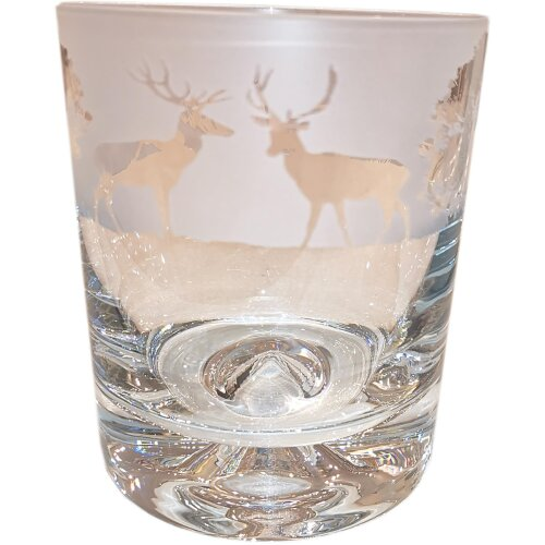 Crystal Whisky Tumbler 30cl - Woodland by Animo Glass