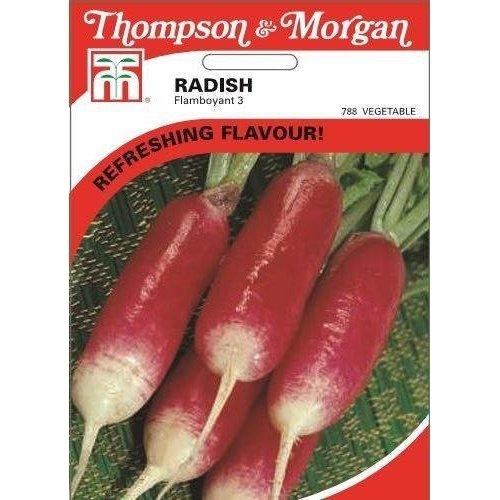 Thompson & Morgan - Vegetables - Radish Flamboyant 3 - 400 Seed