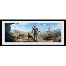 GB eye LTD, Fallout, Sole Survivor Male, Framed Poster 30x75cm, Wood, Multi-Colour, 79 x 44 x 3 cm