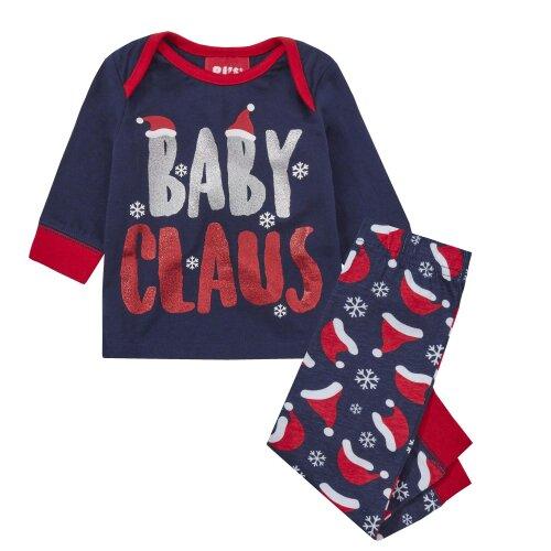 (0-3 Months Baby Claus) Family Christmas Pyjama Set including Dog