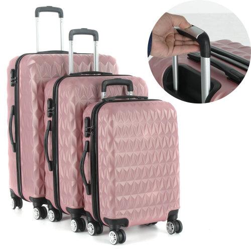 3Pcs Hard Shell Luggage Suitcase Set Travel Luggage Trolley Case