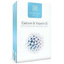 Bone & Teeth Support | Calcium & Vitamin D | Healthspan | 240 Tablets