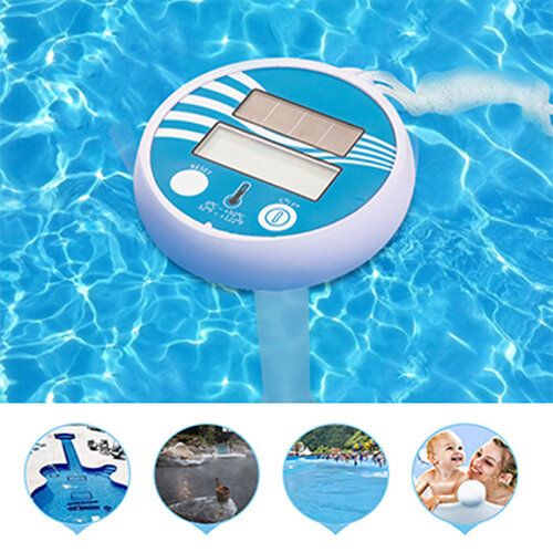 Wireless LCD Display Solar Floating Digital Swimming Pool Thermometer