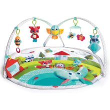 Dynamic Gymini, Baby Play Mat and Activity Gym with Music and Lights, Suitable from Birth, 0 Month +, 100 x 90 cm, Meadow Days