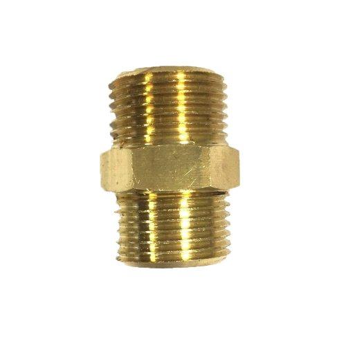 Niplex in raw brass, heavy 3/8