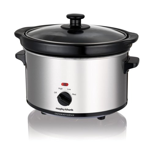 Morphy Richards Ceramic Slow Cooker 2.5L 460251 Silver Slowcooker