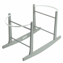 Grey Deluxe Moses Basket Rocking Stand | Rocking Moses Basket Stand