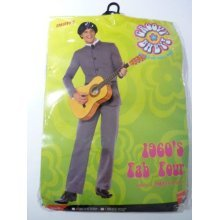 Large Men's Fab Four Iconic Costume -  costume four beatles fab fancy dress 60s mens iconic smiffys 1960s adult outfit suit