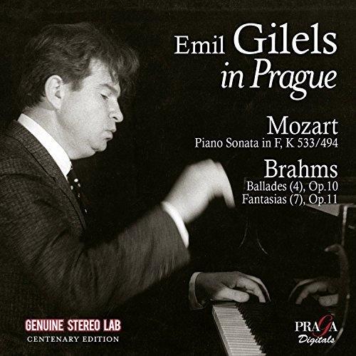 Emil Gilels - Emil Gilels in Prague (Mozart: Piano Sonata K533, Brahms: Ballades Op. 10, Fantasias Op. 116) [CD]