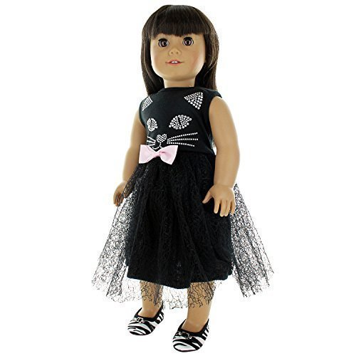 "18/"" doll clothes-fits American Girl Generation My Life-Dress-White w//Stars"