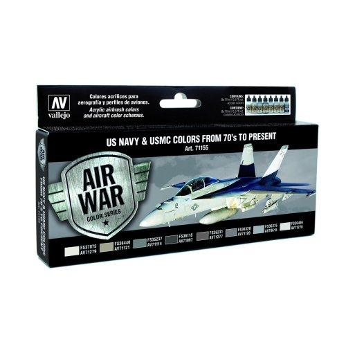 Val71155 - Av Vallejo Model Air Set - Us Navy & Usmc from 70's on