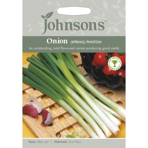 Johnsons Seeds - Pictorial Pack - Vegetable - Onion (Spring) Photon - 350 Seeds