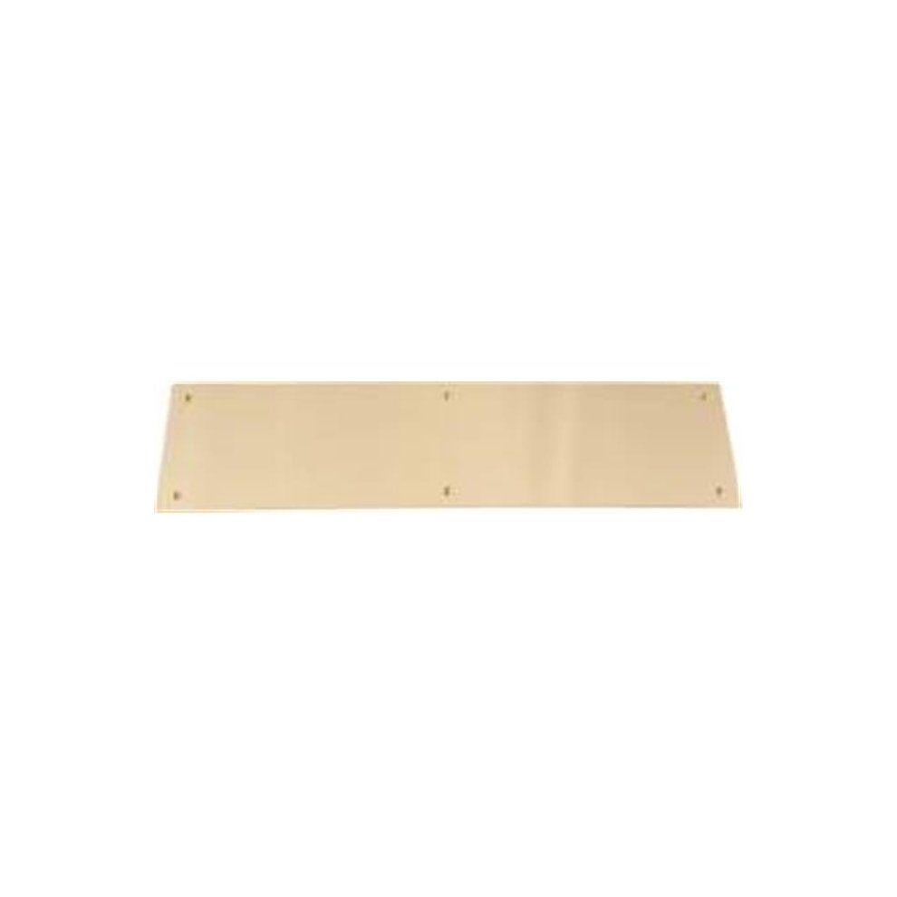 """Don-Jo 801544 Push Plate Polished Brass 4/"""" x 16/"""" Pack of 1"""