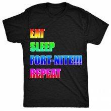 8TN eat sleep fortnite repeat Unisex-children T Shirt