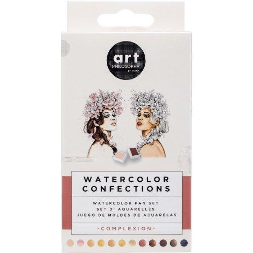Prima Watercolor Confections Watercolor Pans 12/Pkg-Complexion