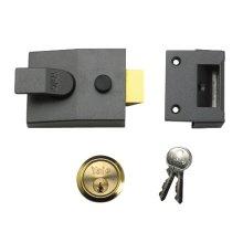 Yale Locks 89DMGPB Deadlock Nightlatch DMG Brass Cylinder 60mm Backset (Boxed)