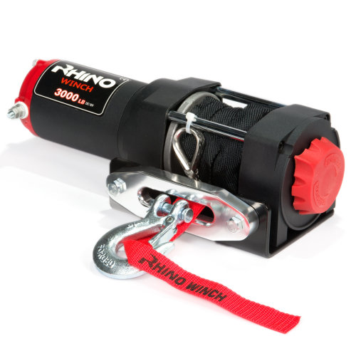 1360Kg 12v Stronger Than Steel Rhino Electric Winch Wireless 3000Lb Synthetic Dyneema Rope