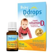 Baby Ddrops Liquid Vitamin D3 Drops 10µg 60 Drops