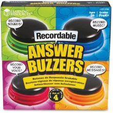 Learning Resources LRN3769 Recordable Answer Buzzers