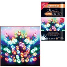 Christmas 100 Battery Timer LED Lights Indoor or Outdoor - Multi Colour