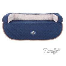 Scruffs Blue Wilton Sofa Pet Bed
