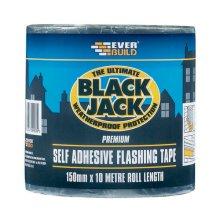 Everbuild Black Jack Flashing Tape 150mm x 3m