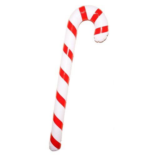 Storm&Lighthouse 90cm Inflatable Novelty Candy Cane / Giant Candy Cane - Perfect Party Decoration or Fancy Dress Accessory