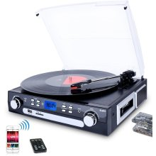 DIGITNOW! Bluetooth Record Player With Stereo Speakers