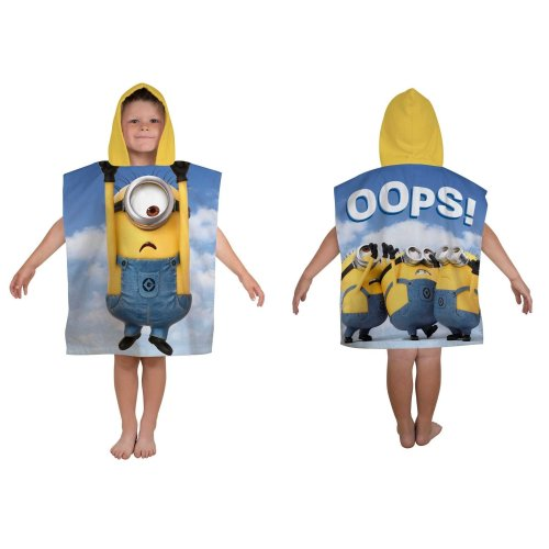 Minions Despicable me Hooded Towel Poncho,Kids Hooded Towel,Official Licensed