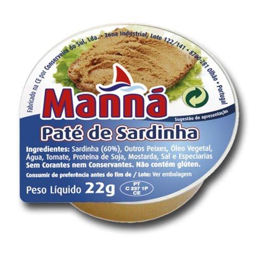 24pc Manna Portuguese Sardine Pate Cans - 22g   Canned Sardine Spread Multipack