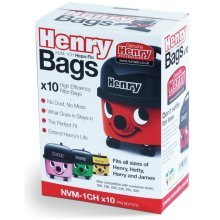 Genuine Henry Pack Of 10 Dustbags - NVM1CH - Henry, Hetty, Basil, Harry, James 160 - 300 Tubs