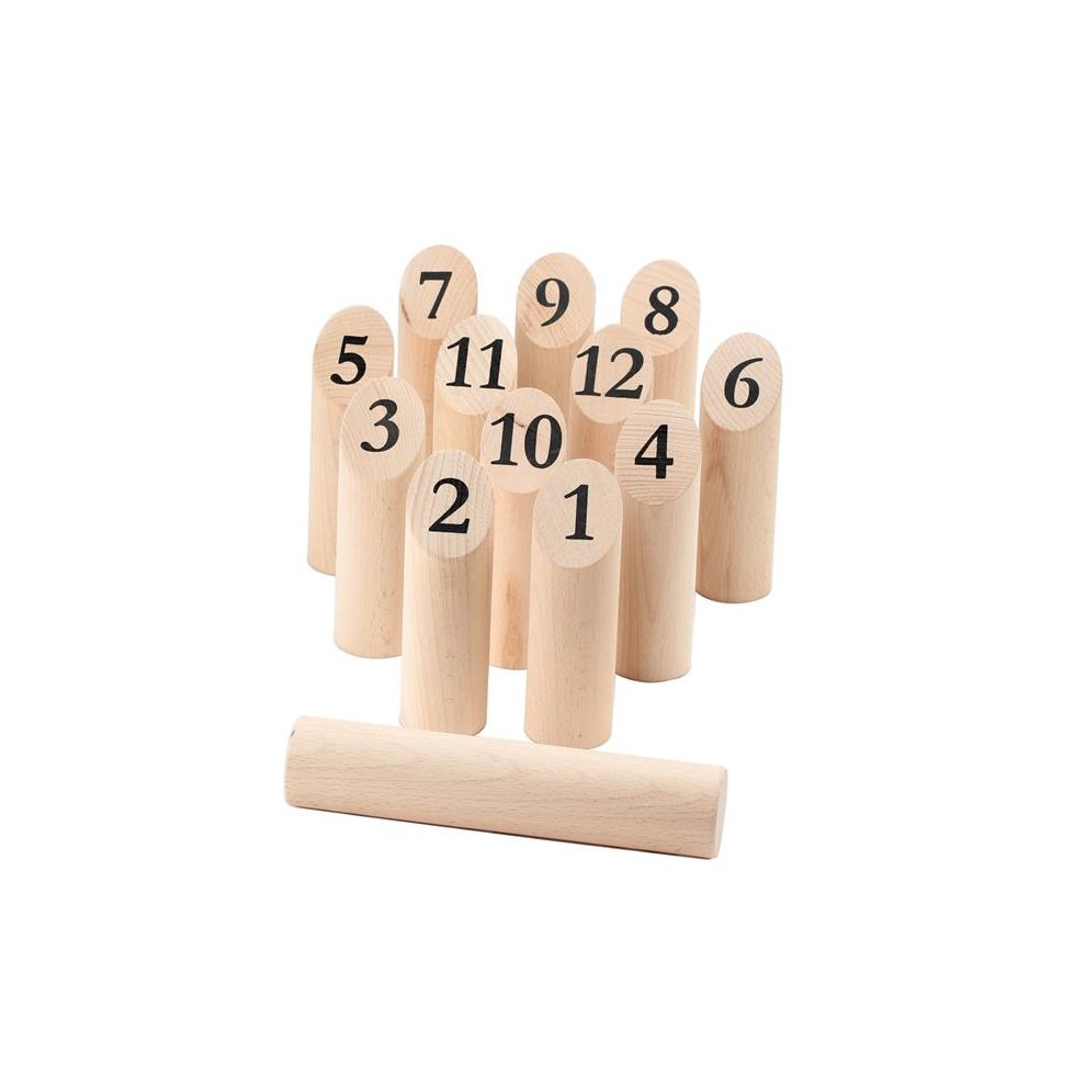 Omni Wooden Toys 966051 Swedish Bowling Game