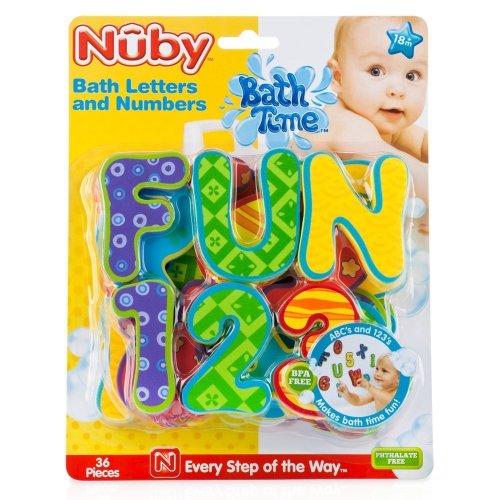 Foam Bath Letters From Nuby Guaranteed Bathtime Fun Age 3yrs+ (36 pieces)