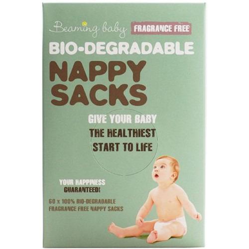 Beaming Baby Bio-degradable Nappy Sacks  Fragrance Free 60's