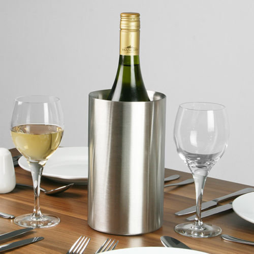 GEEZY Stainless Steel Double Walled Brushed Champagne Wine Bottle Drink Ice Cooler