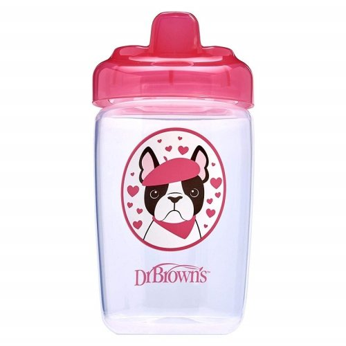 Dr Brown's Milestones Hard Spout Sippy Cup 350ml - Pink