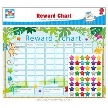 Childrens Reward Chart Good Behaviour 6 Star Sticker Sheets and Pen