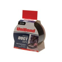 Unibond 1517009 Duct Tape Black 50mm x 25m