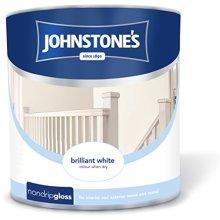 Johnstones Non Drop Gloss Paint - White